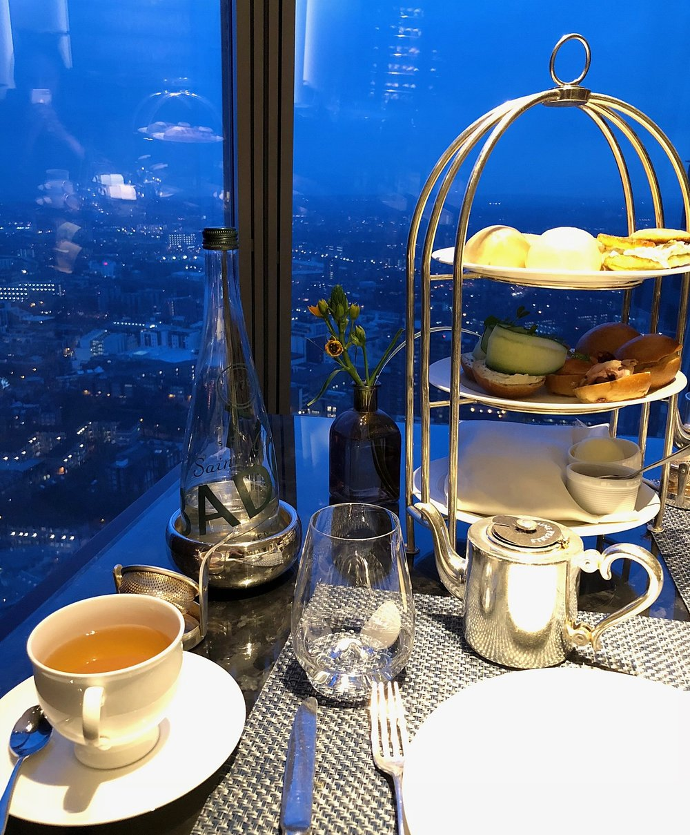 Ting  for Tea on the 35th floor of the Shard