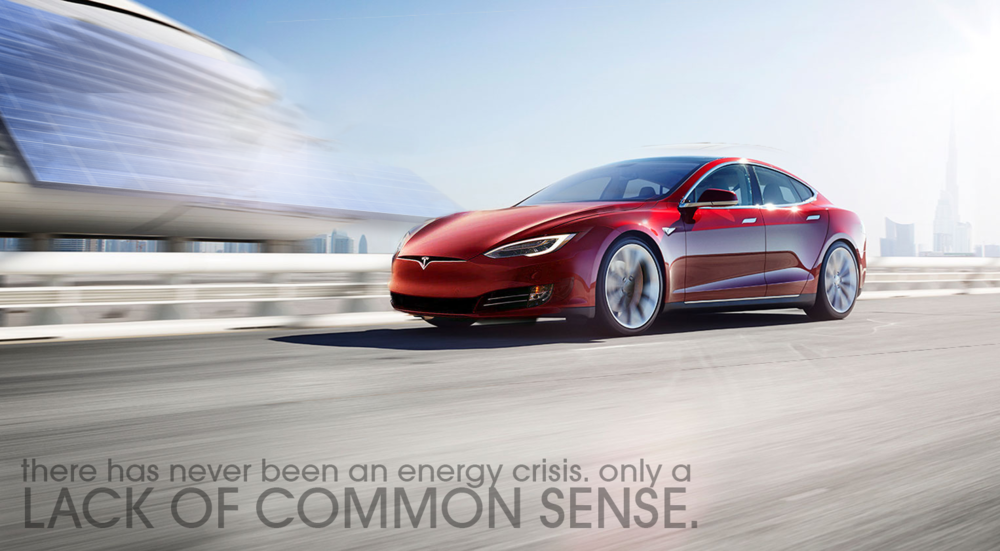 Print - focuses on inserting elements of other Tesla-relevant developments and furthers the idea of