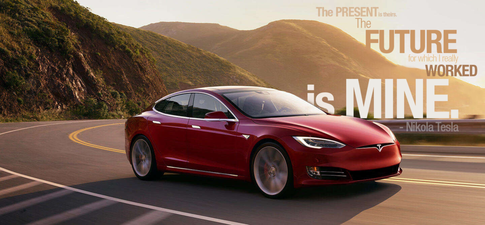 Tesla - has quickly become more than just a car company. It represents a new age of progress. Founder Elon Musk also dabbles in Mars colonization, commercial space flight, and clean energy and the rate at which these things have become possible under his leadership has forced other companies to innovate in order to compete. Tesla represents a step in the right direction.