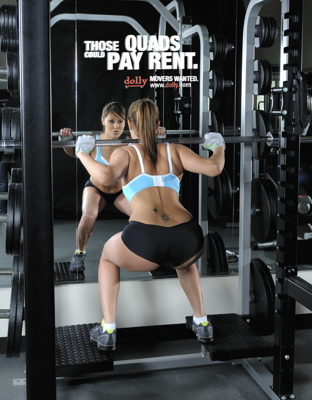 Ads on mirrors - because who doesn't like checking themselves out at the gym?