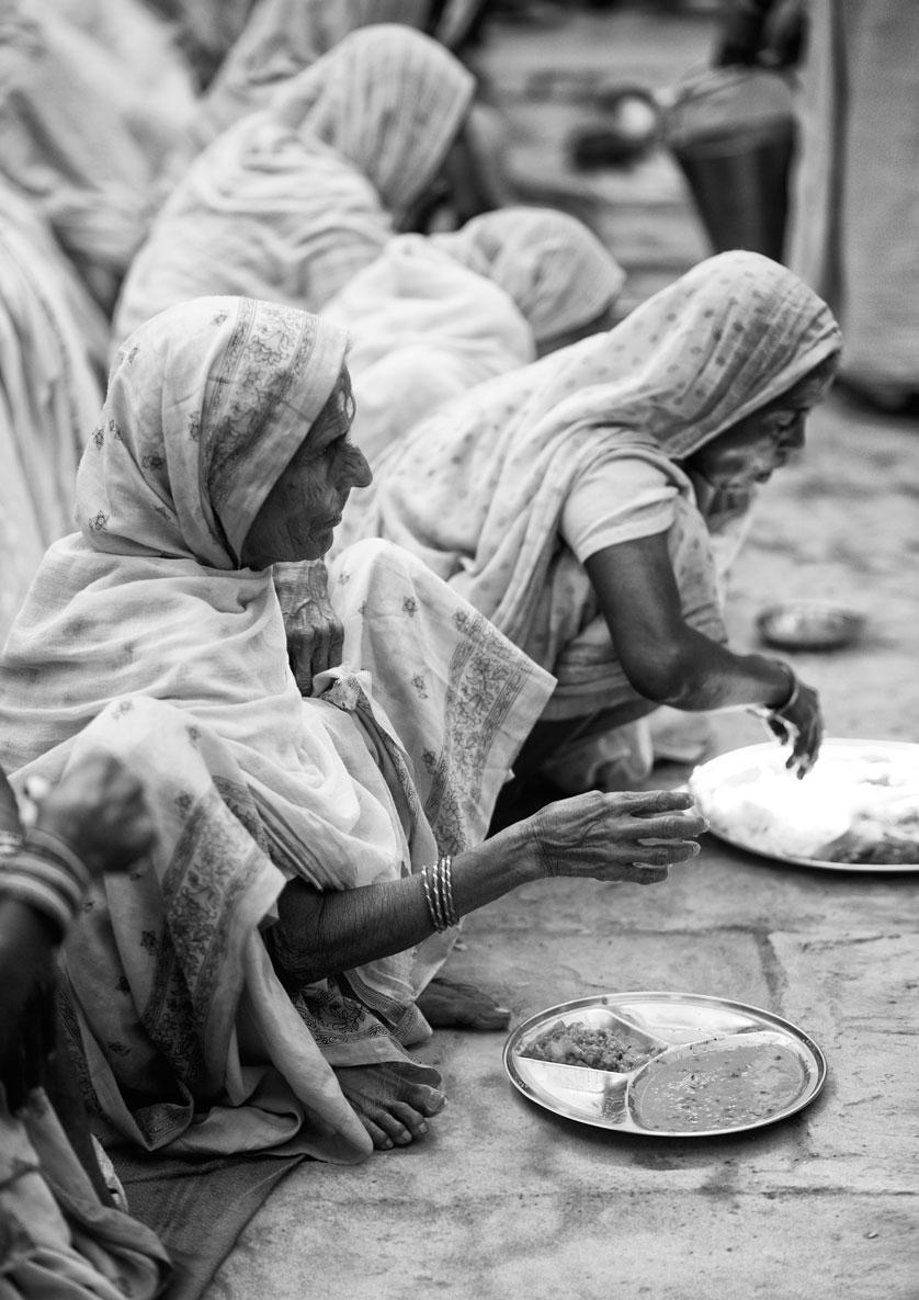 widows of vrindavan :: during lunch.jpg