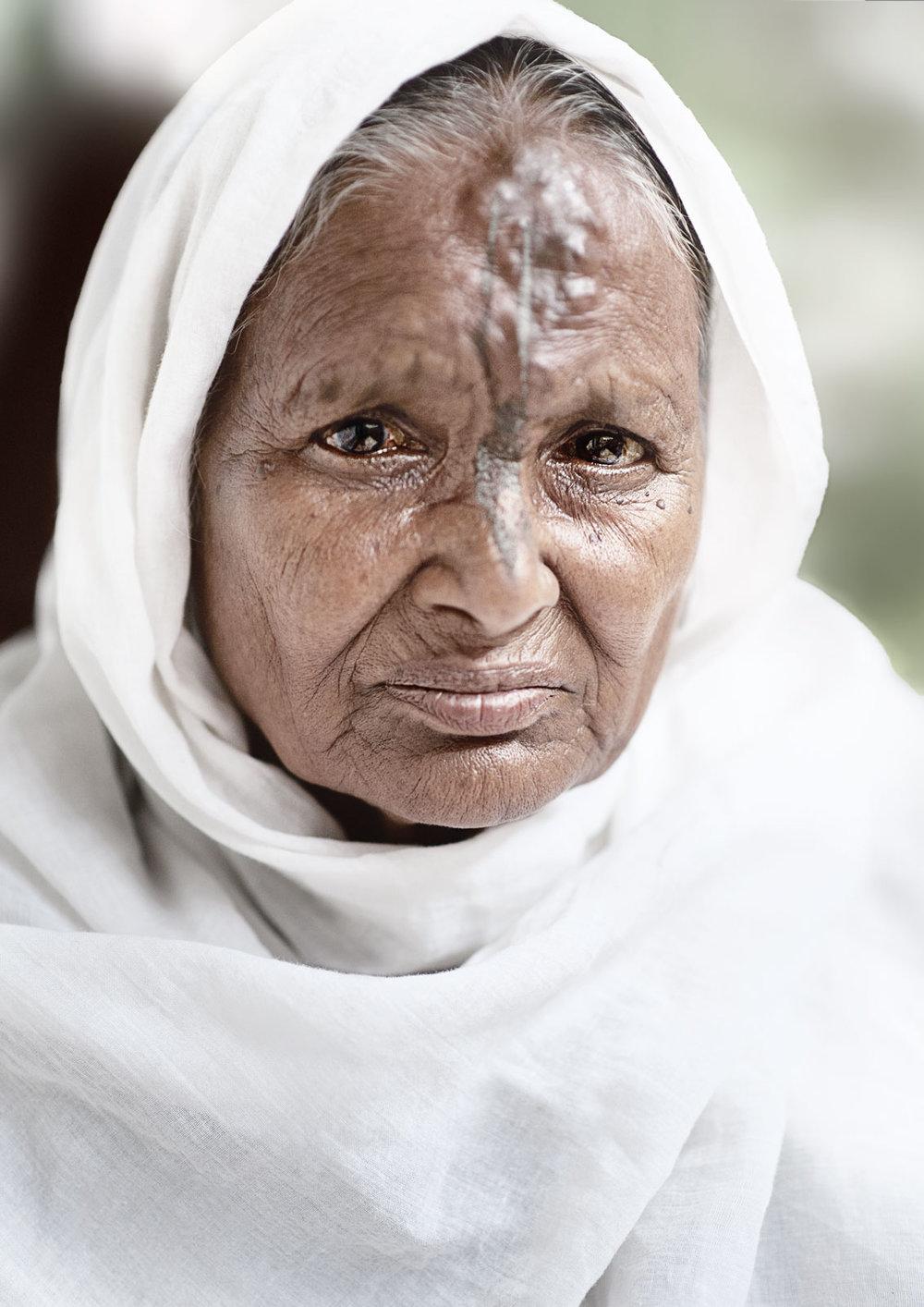 widow of vrindavan  portrait ashram I.jpg
