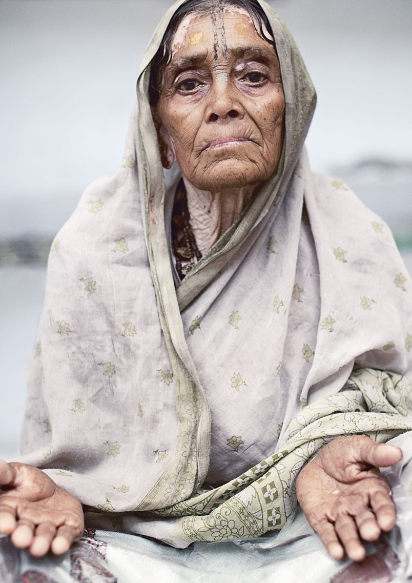 widow of vrindavan  portrait ashram II.jpg