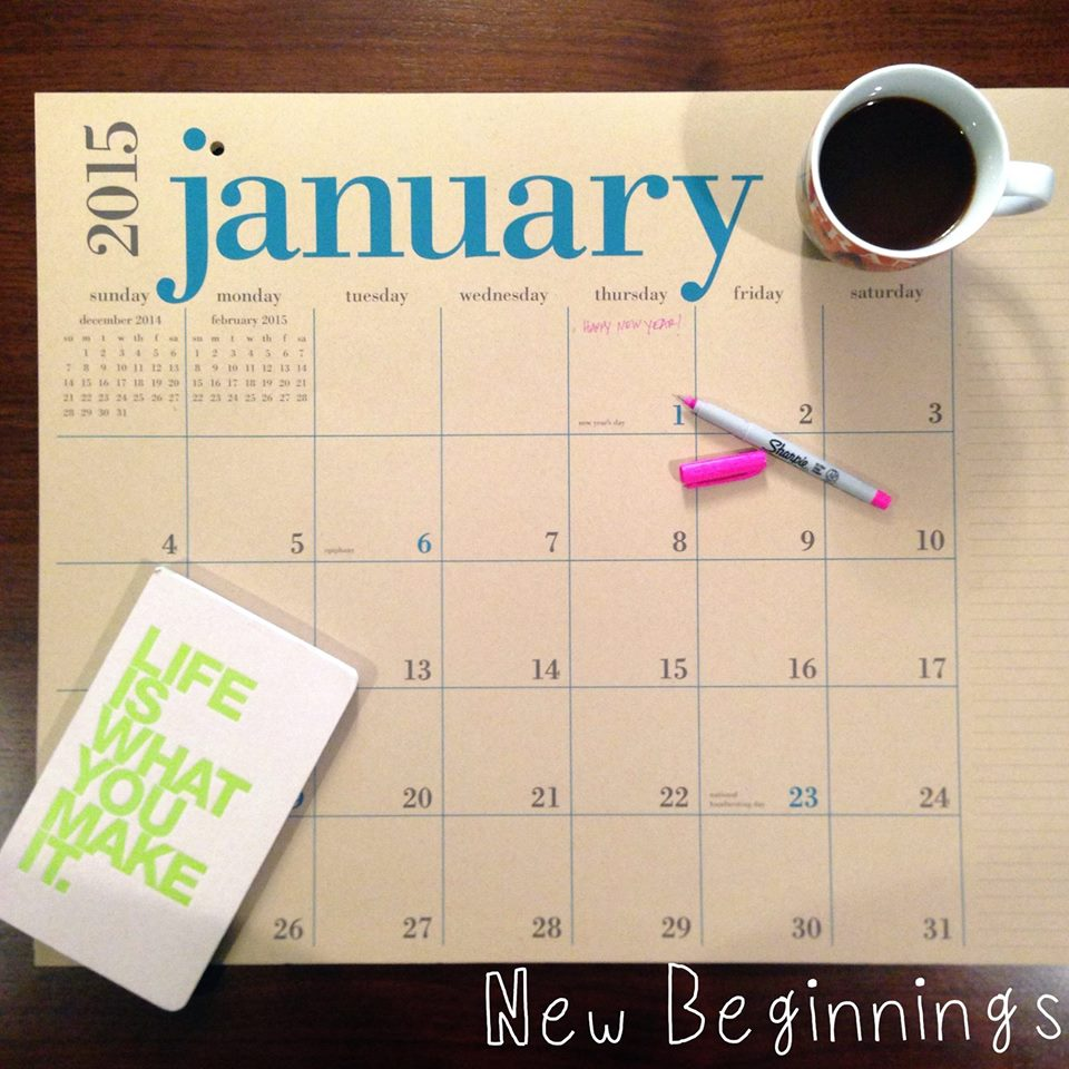 A new year, a new calendar. Call me crazy, but I am filled with hope and promise whenever I fill out the new month's calendar. I just love feeling like I can design a life and business I love.    What about you? What does new beginnings mean for you?