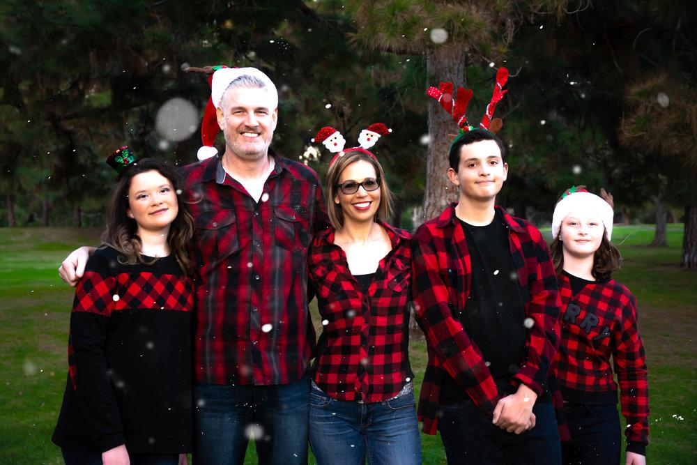 Newbold Family Christmas - El Dorado Park, California