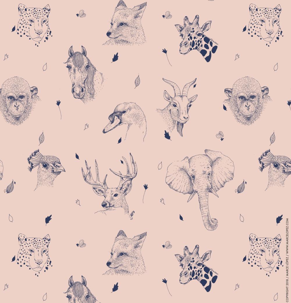 safari animals pattern