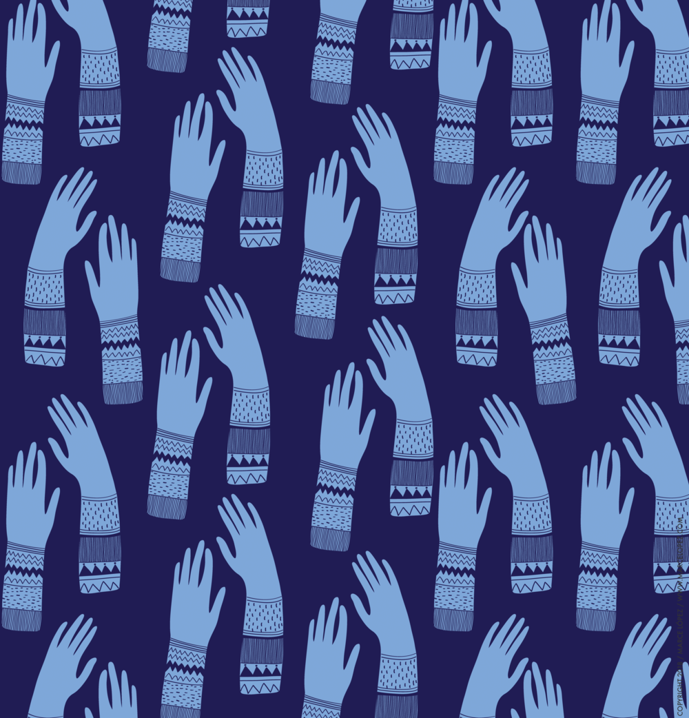 manos estampado