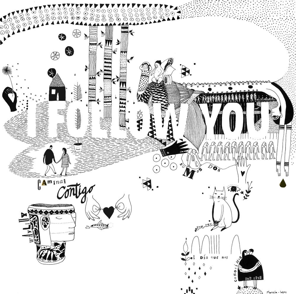I follow you - -illustration-