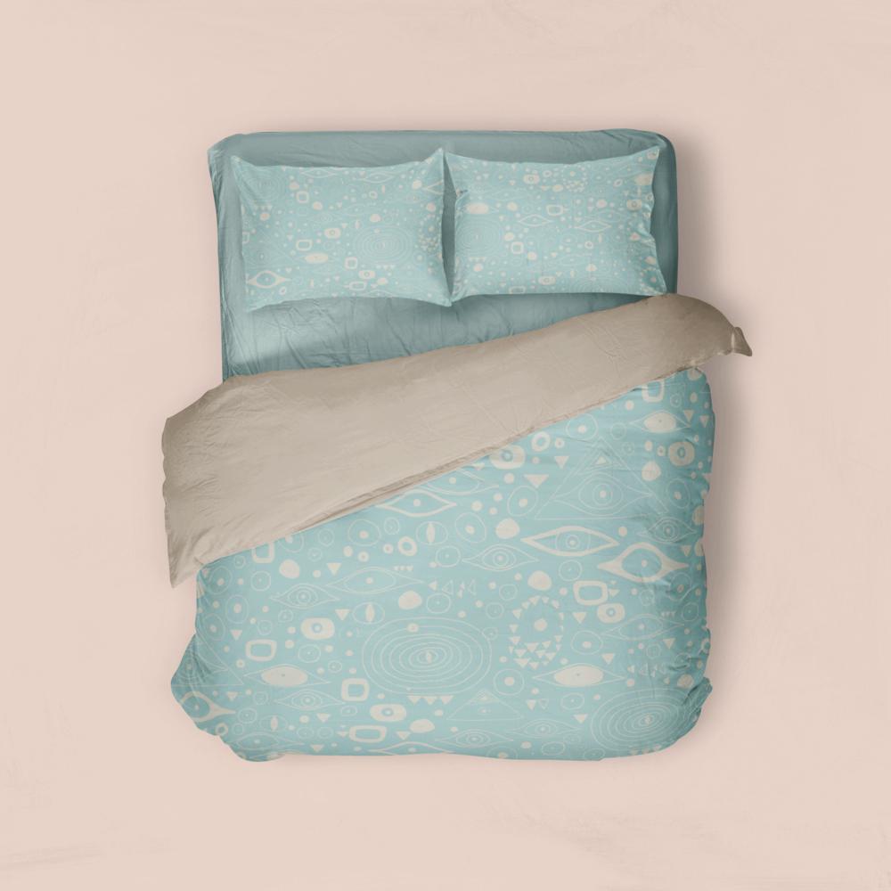bed linen geometric