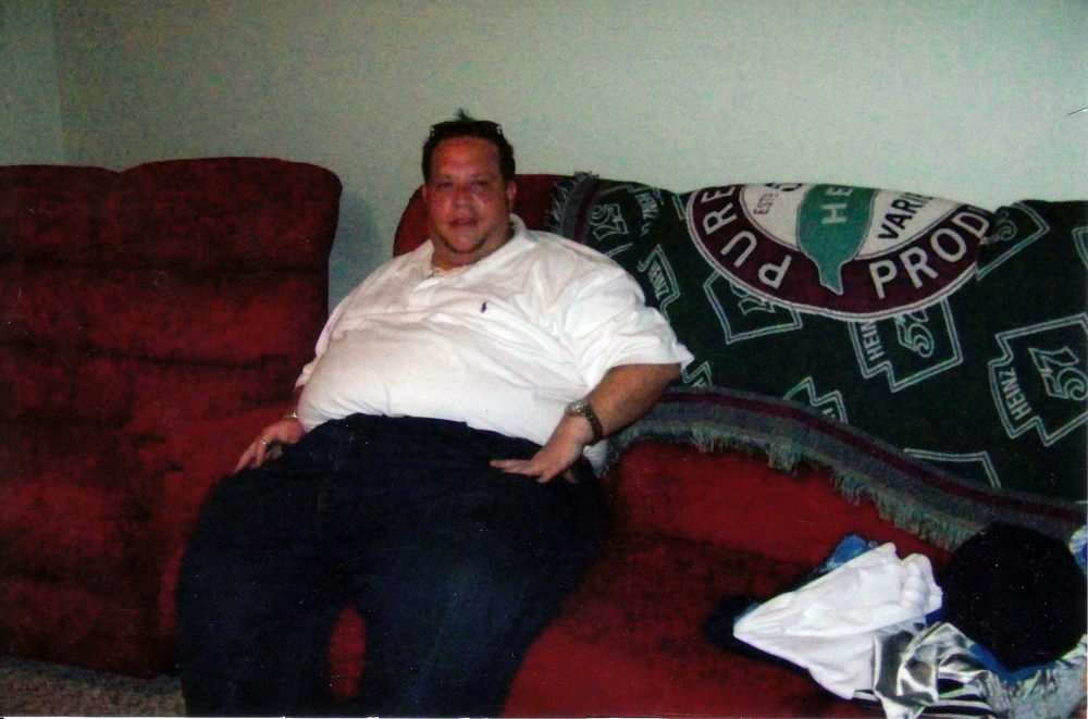 BEFORE: Peter at over 400lbs.  Click to see more...