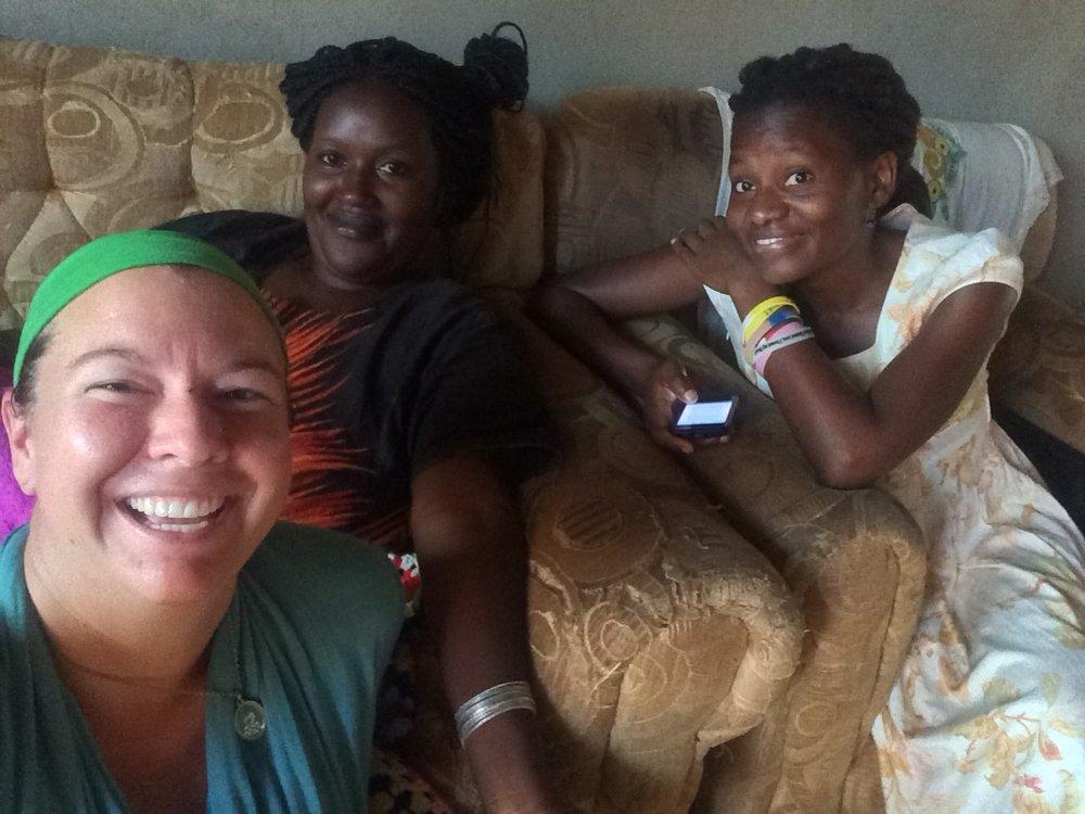 Jane, Zaitun and I visiting and doing some orthopedic treatment