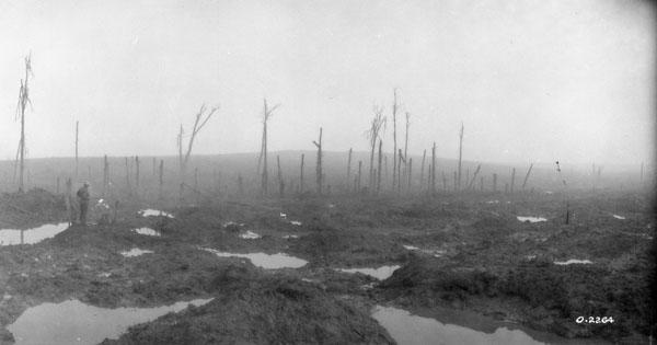 Battlefield of Passchendaele   (Photo: Library and Archives Canada)
