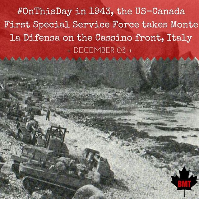 #OTD in 1943, the US-Canada First Special Service Force takes Monte la Difensa on the Cassino front, #Italy. #history #wwii #onthisday