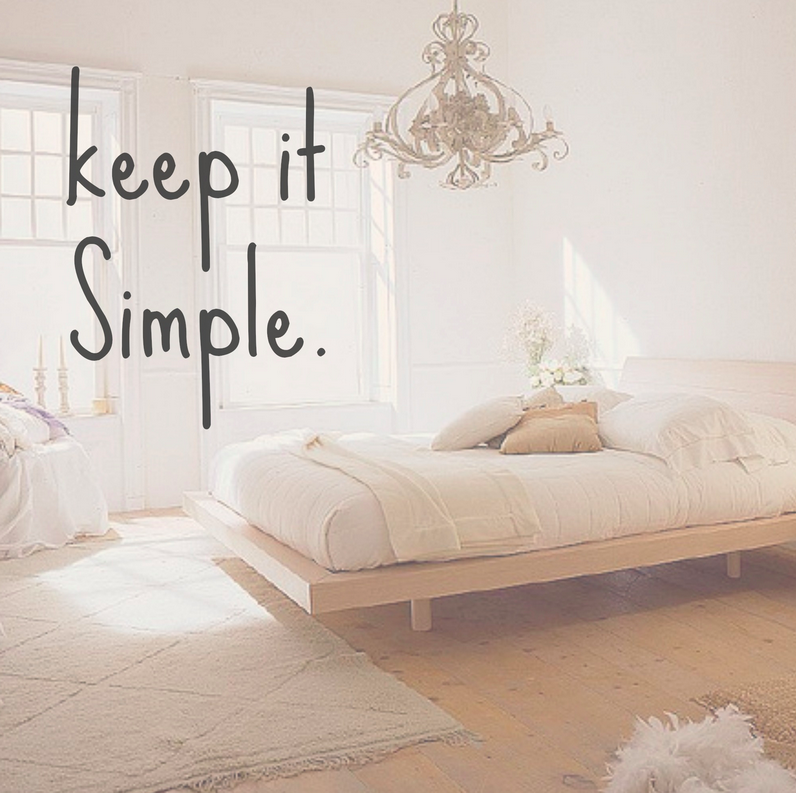 3 Rules for living Simply