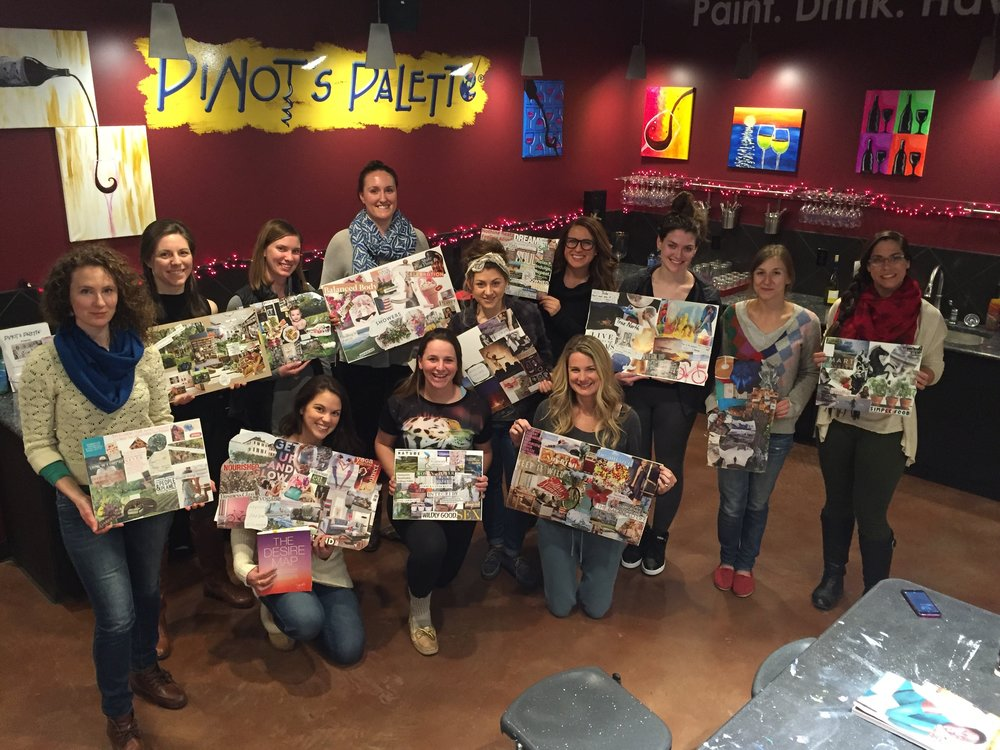 Vision Board workshop pics!