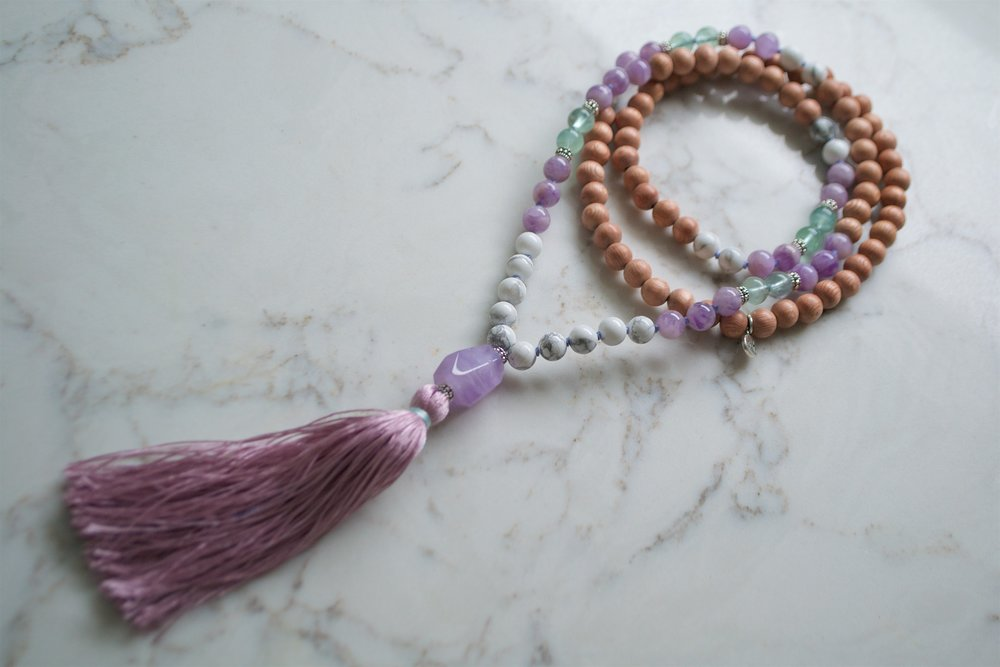 Necklace collaboration with Malabella Jewels.  Deck + Mala $111 bundle
