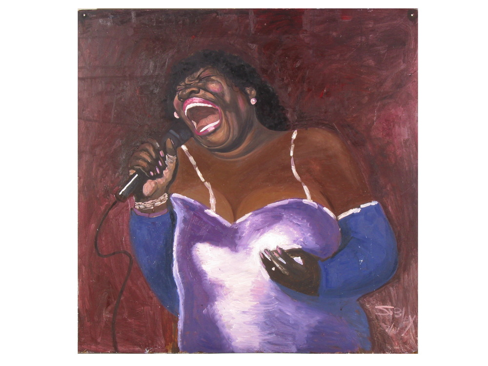 Oil by John Sibley of Koko Taylor, Jazz Singer on Maxwell Street, Chicago