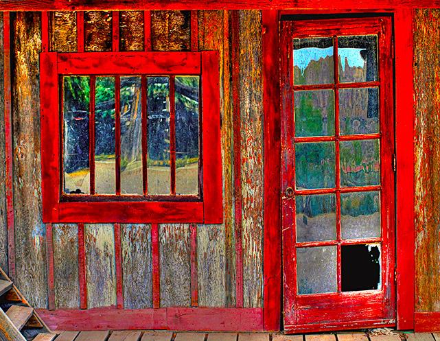 Old Red Frame