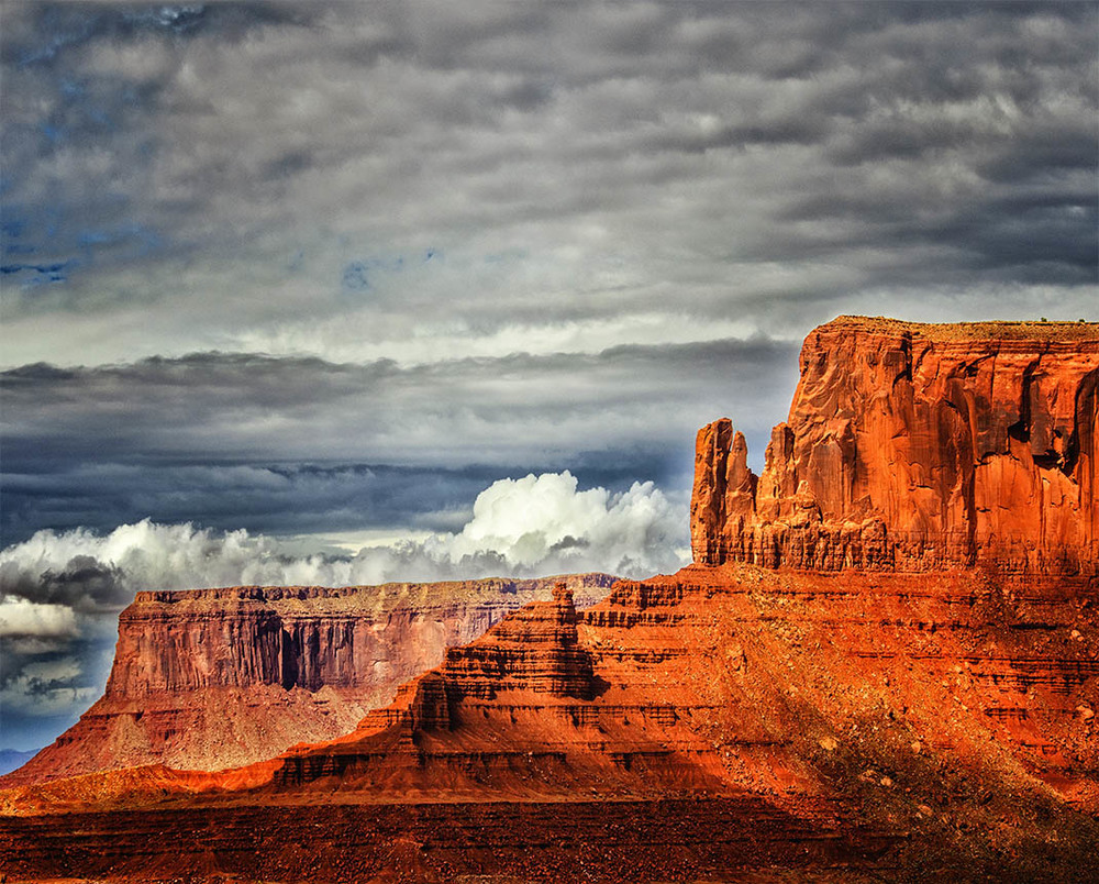 Clouds over Monument Valley