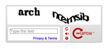 The old way of captcha, out the door