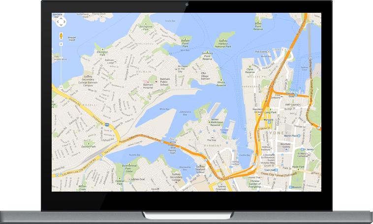 Google maps on Chromebook