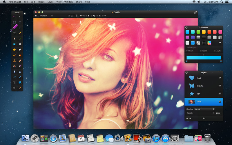 Pixelmator drawing app for the mac (source:  Pixelmator )