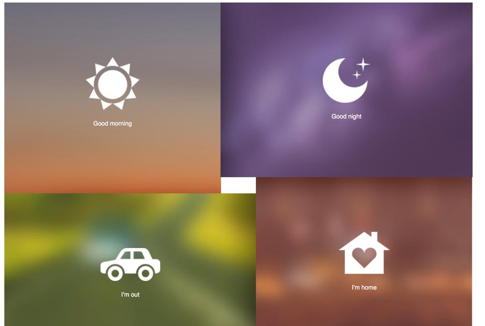 Create and trigger scenes using HomeKit or the Koogeek App
