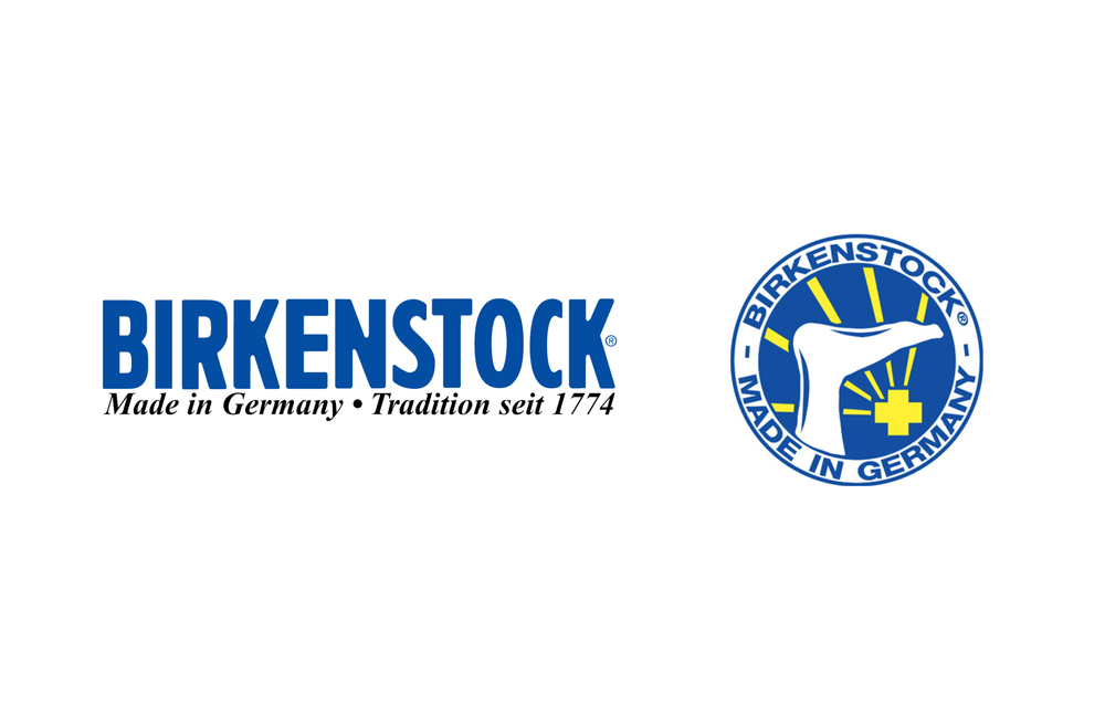 They Are Shown In A Different Typeface From The Logotype Two Versions Of Birkenstock Logo Complicated And Not Well Connected