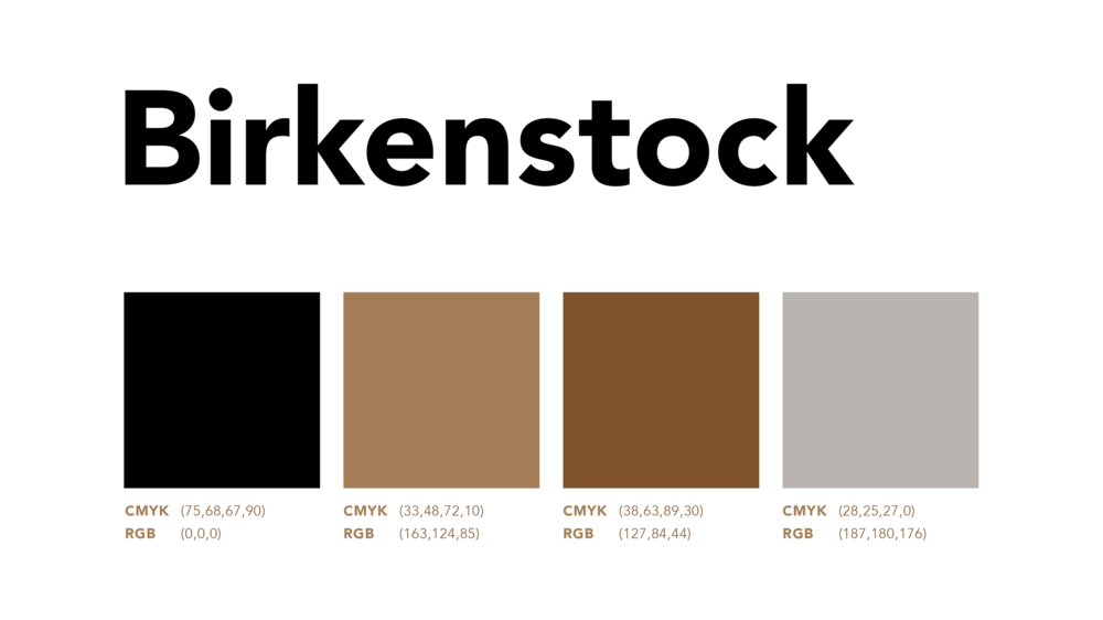 Captions Or A Pictorial Logo The Color Palette Chosen For Branding System Is Inspired From Cork Sole And Metal Buckles Of Footwear