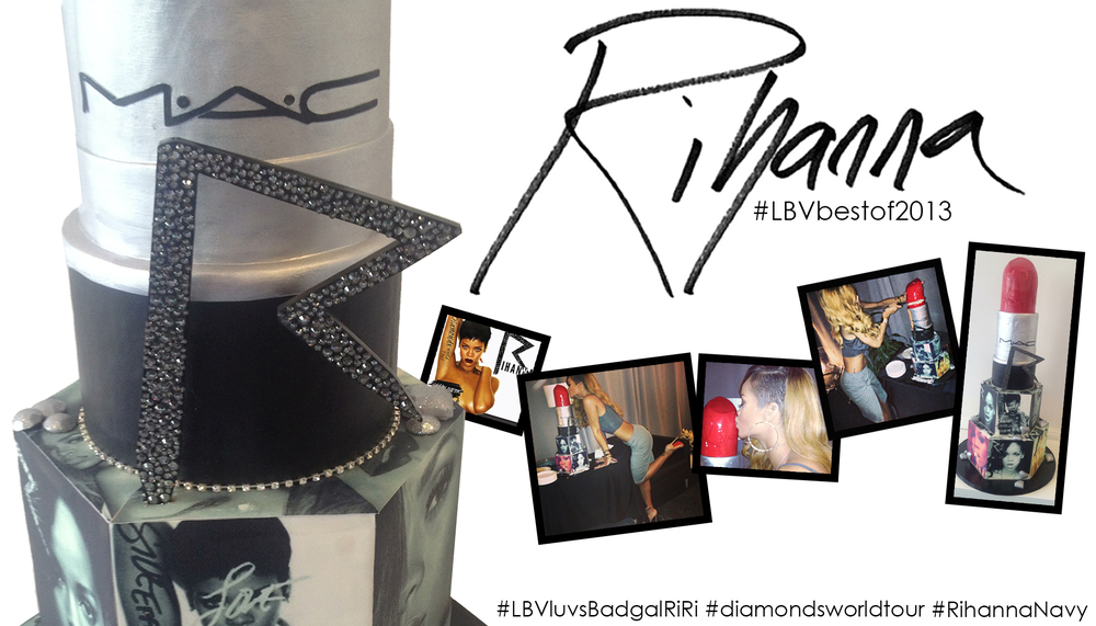 Rihanna-diamonds-tour-brooklyn-barclays-mac-riri-woo-lipstick-bcakeny-lbvdesigns