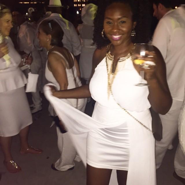Then we danced on the Hudson River and the night got blurry... #dinnerenblanc #dinnerenblancnyc #newyorkcity