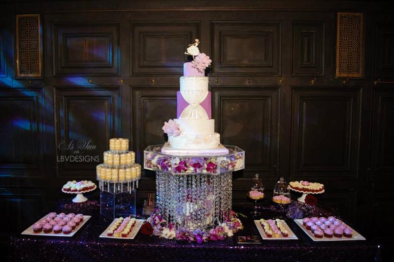 Signature Swarovski Chandelier Cake stand
