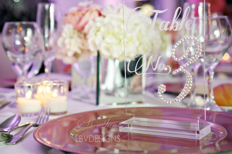 Swarovski acrylic table number