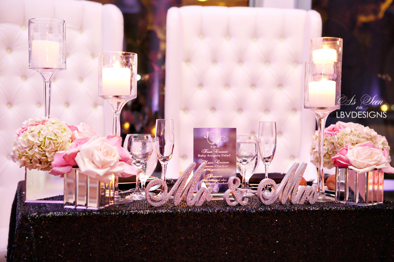 Custom Sweetheart Table Accents