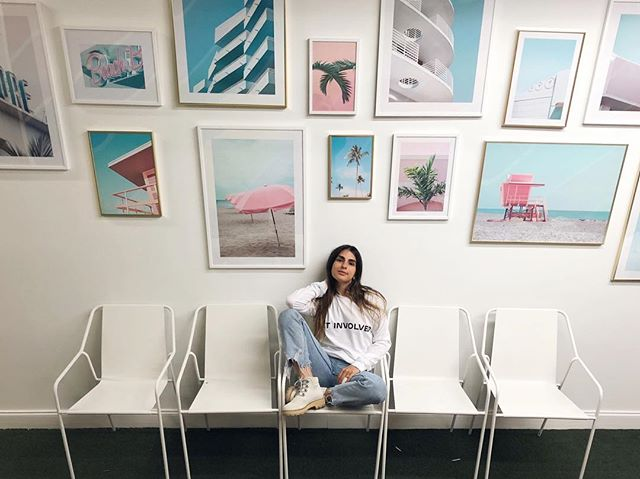 Loving the way my curated selection of the  new @Desenio studio collection from their coast-to-coast series looks at the @stylesaves HQ. #desenio