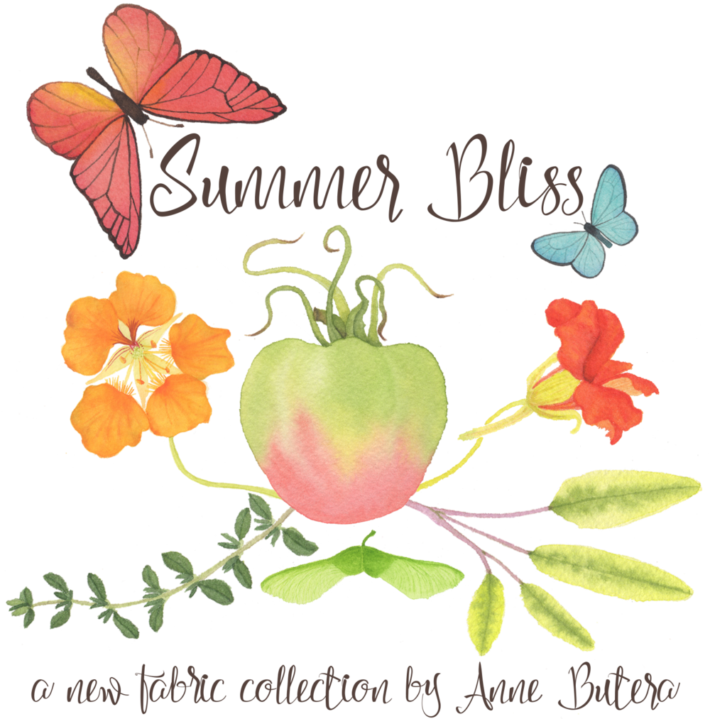 Summer Bliss Fabric Collection by Anne Butera