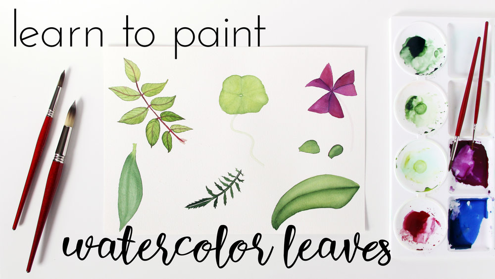 Learn to Paint Watercolor Leaves