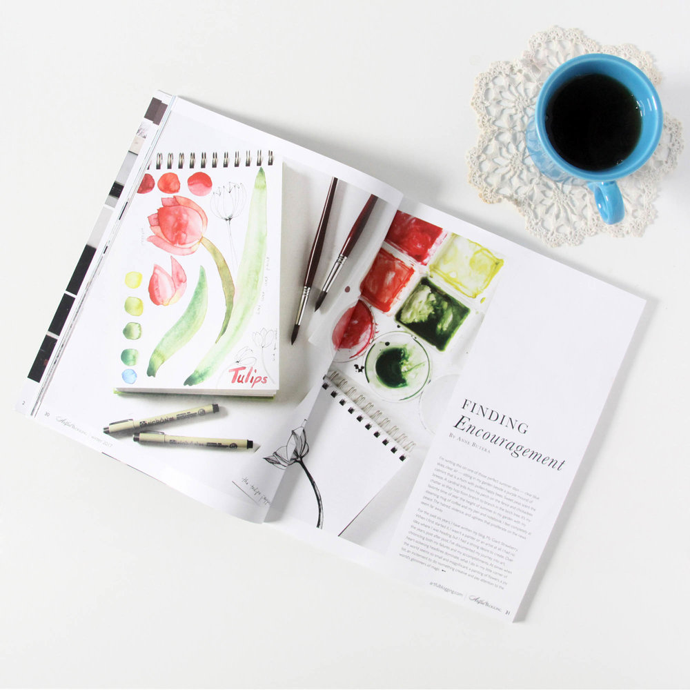 My Giant Strawberry Featured in Artful Blogging Magazine