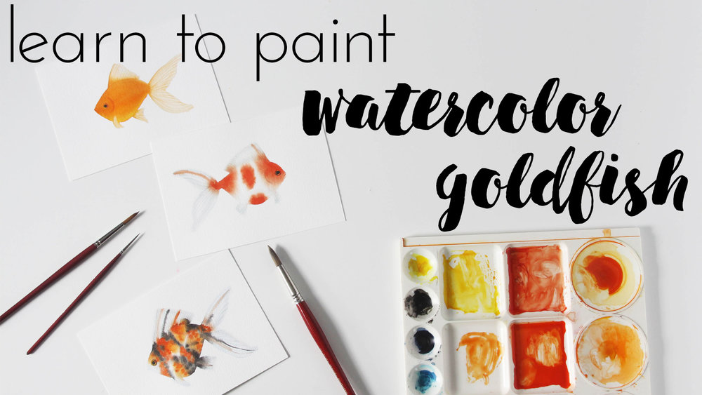 Learn to Paint Watercolor Goldfish a Skillshare Class by Anne Butera