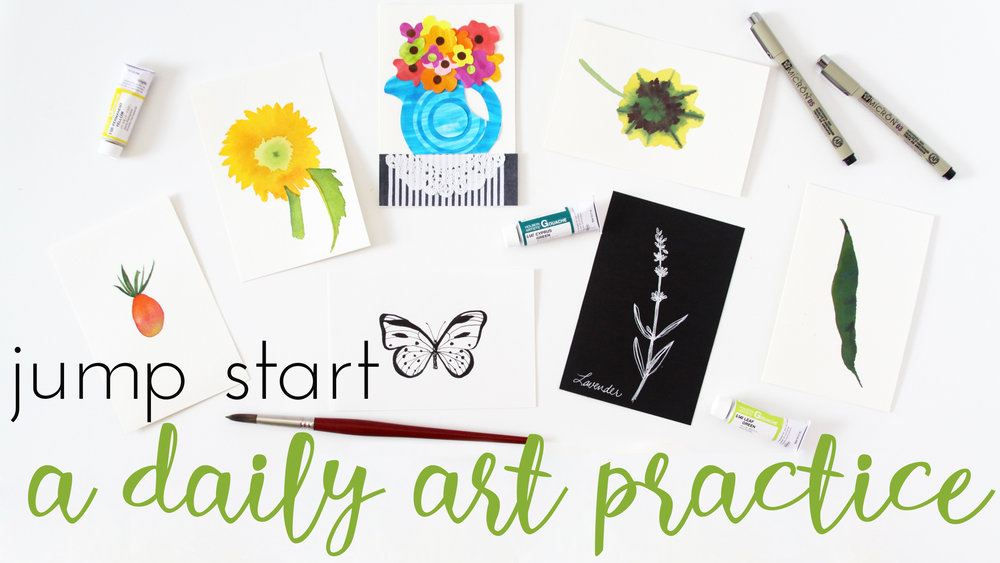 Jump Start a Daily Art Practice Skillshare Class with Anne Butera