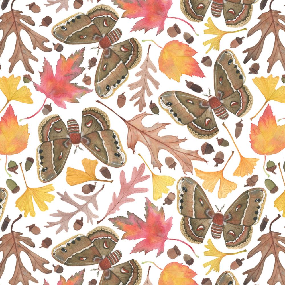 A Walk in the Woods Fabric Design by Anne Butera