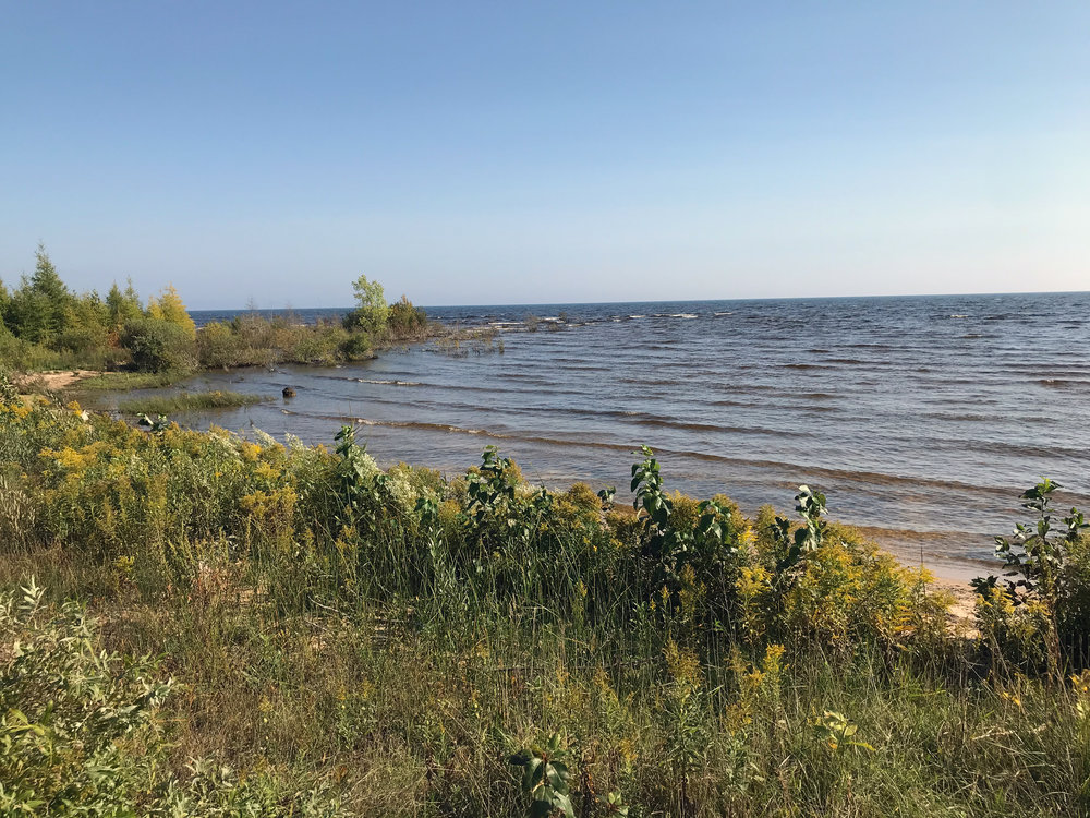 Upper Peninsula Lake Michigan Shoreline in Early Autumn
