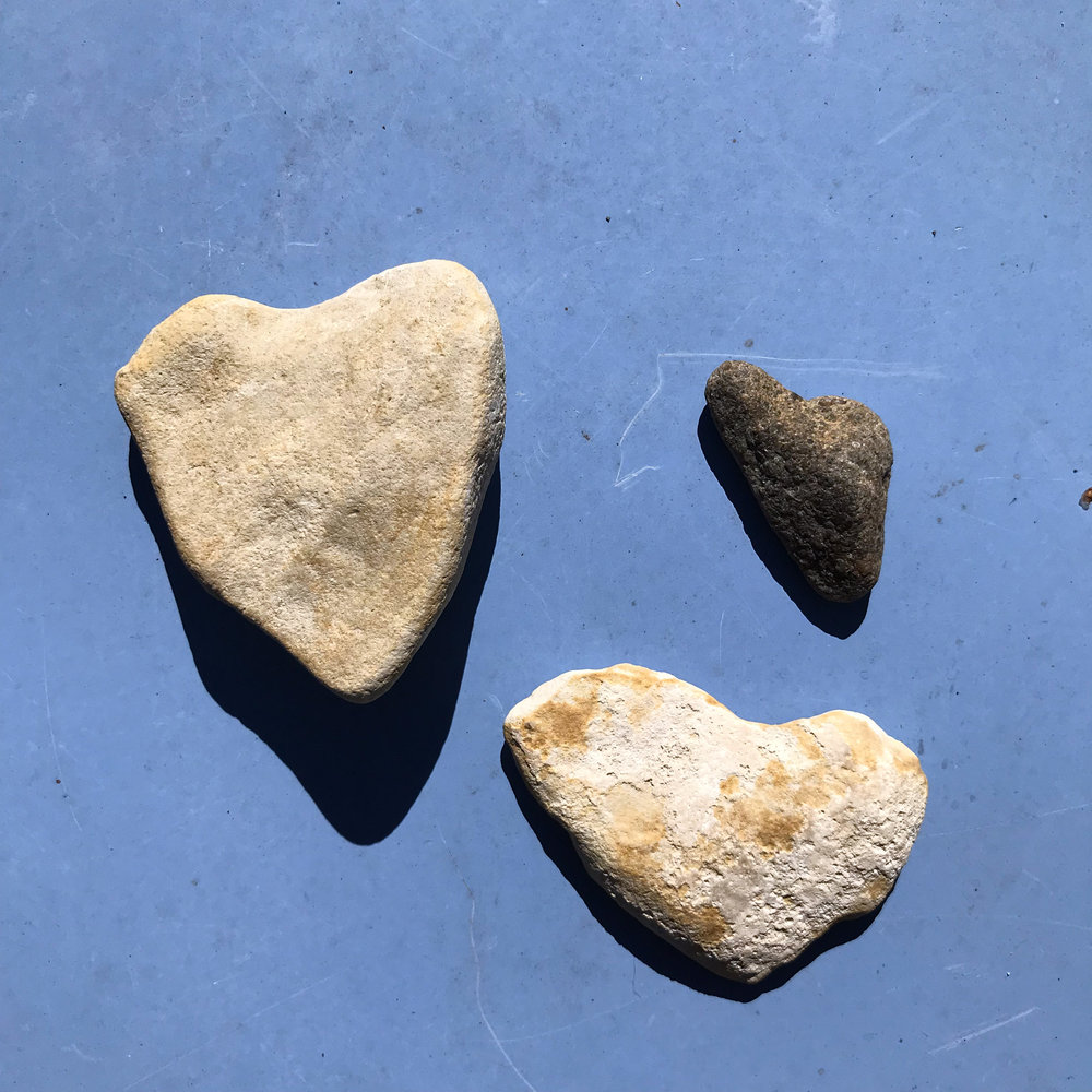 Heart Rocks Found by the Water on Vacation on Beaver Island