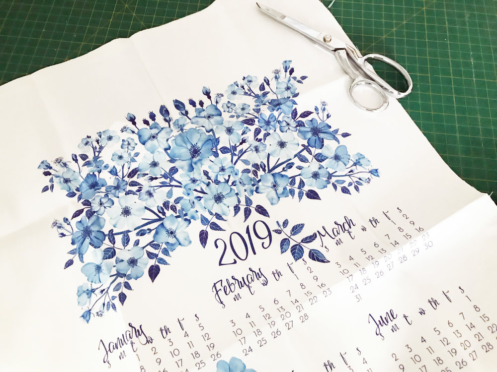 I have a whole list of unfinished sewing project. This tea towel calendar* is just one of them.