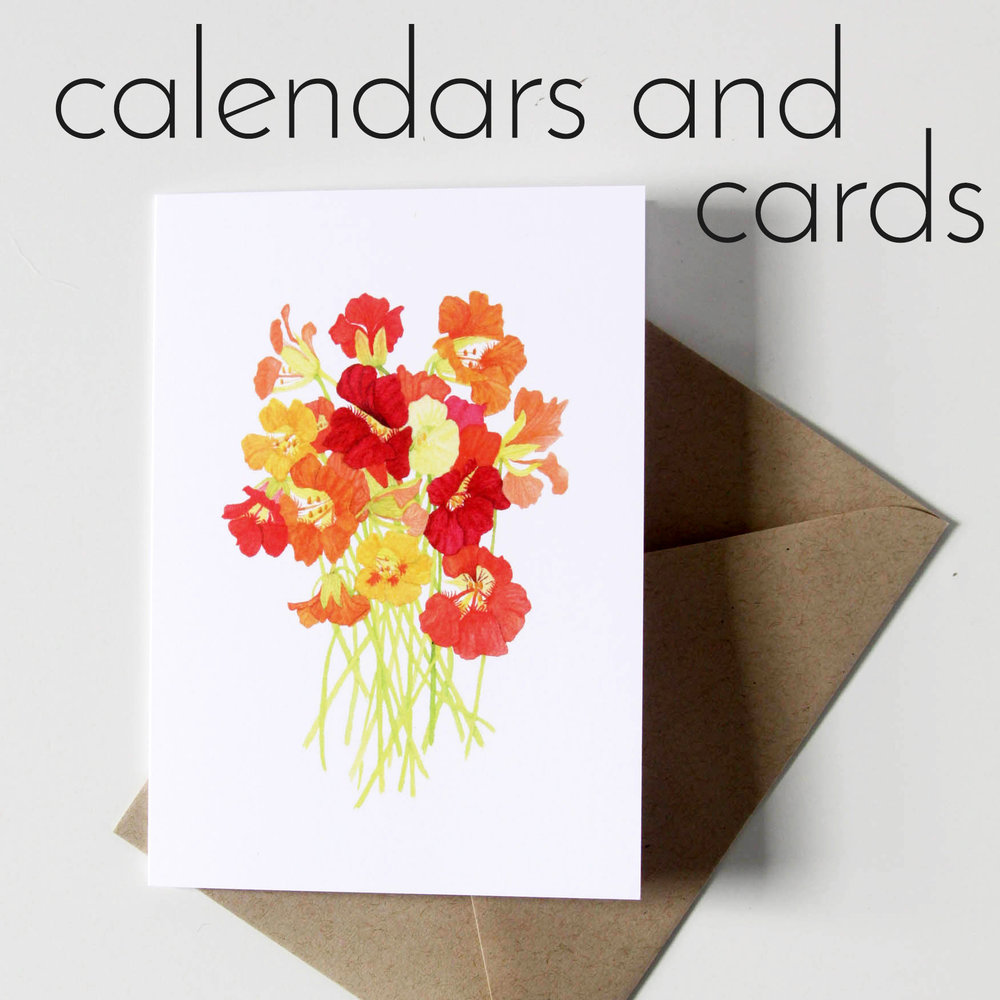 Shop for Calendars and Cards with Watercolor Illustrations by Anne Butera