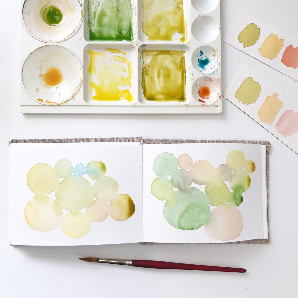 Watercolor Play in My Sketchbook Always Brings Me Joy