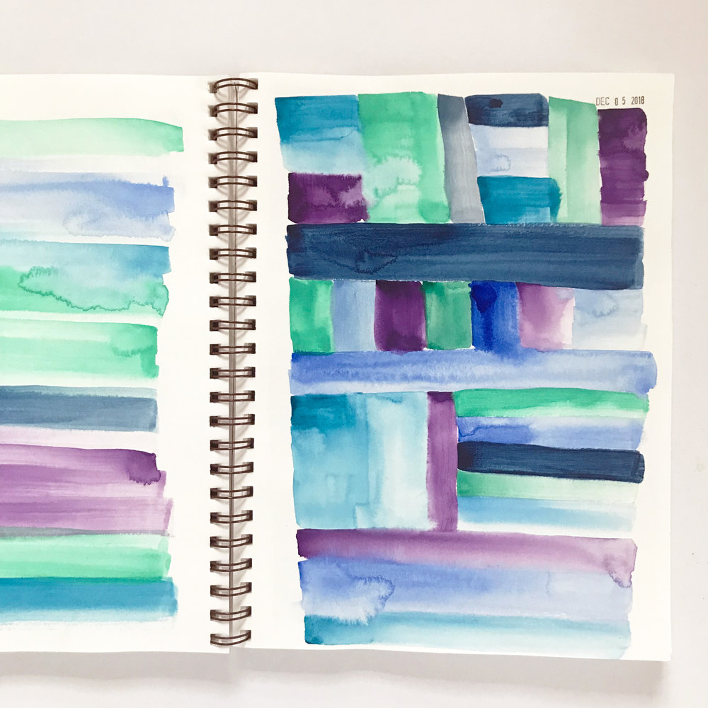 Playing Around with Kuretake Watercolors in My Sketchbook