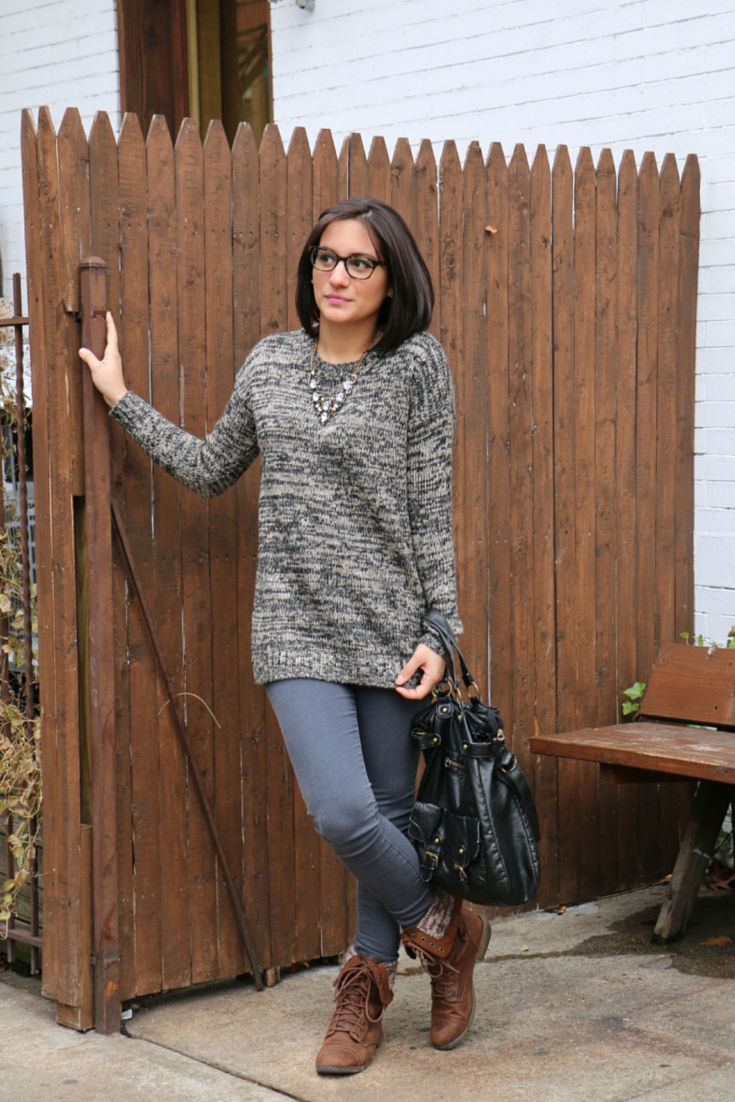 Wool Sweater and Skinny Jeans