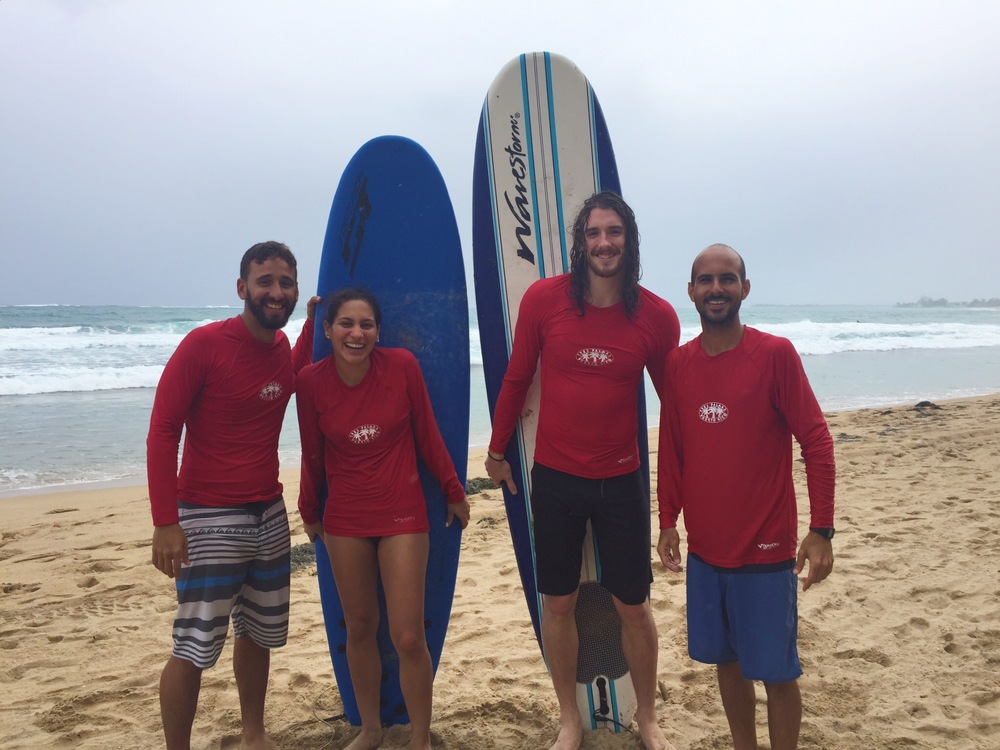 Posing like we know what we're doing with the guys of La Punta Surf Club.