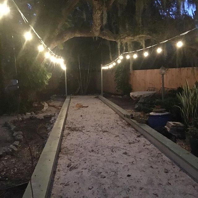 We're in the process of transforming the backyard! Sometimes you have to celebrate the small steps along the way... even if the overall process takes longer than you think. —— #bocce #bocceball #bocceballcourt #backyarddesign #backyarddesign #backyards #backyard_dreams #lovemyhouse #planning #lovemyyard #enjoytheride #enjoythejourney #planahead #prepare #stayexcited #transformation #backyardtransformation #houseupgrades #upgrade #sarasota #sarasotaflorida #snowbird #warmwinter